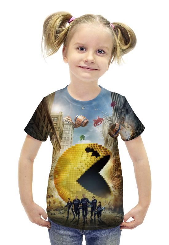 Футболка с полной запечаткой для девочек Printio Пиксели футболка с полной запечаткой для девочек printio spawn