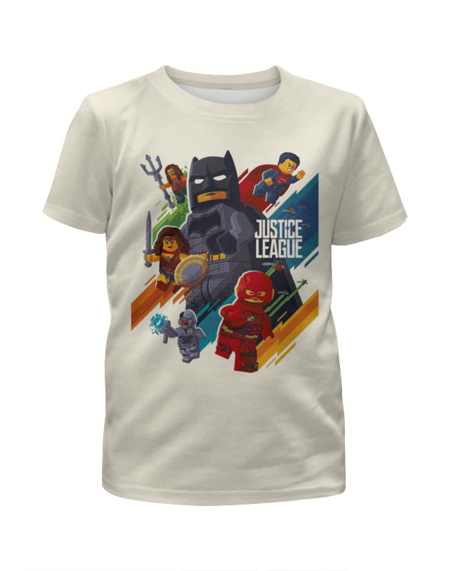 Футболка с полной запечаткой для девочек Printio Лига справедливости / justice league. lego single ninja dc comics justice league superman batman the flash supergirl superwoman building blocks bricks toys for children