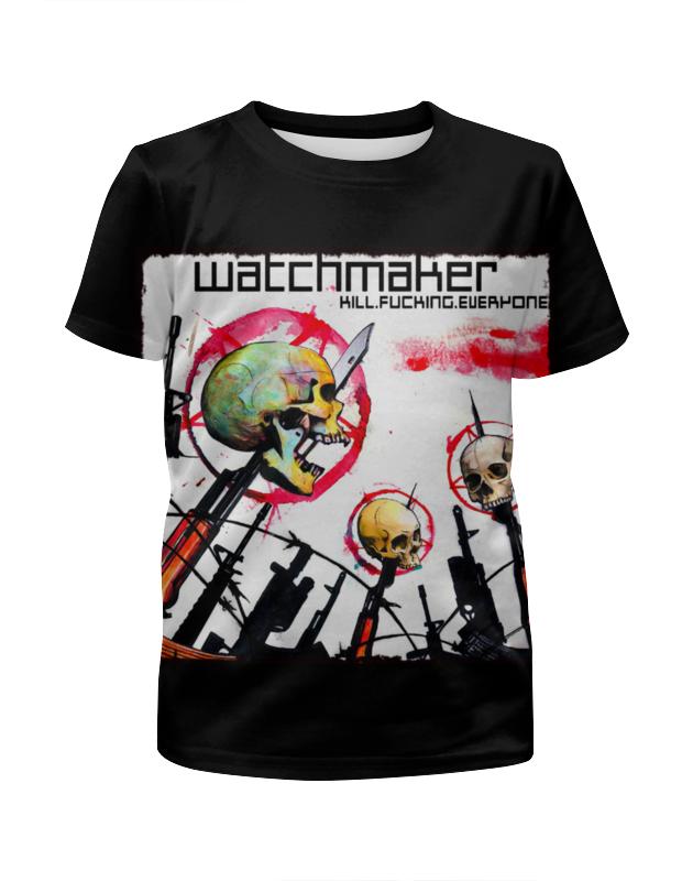 Футболка с полной запечаткой для девочек Printio Watchmaker band футболка с полной запечаткой для девочек printio дайвинг