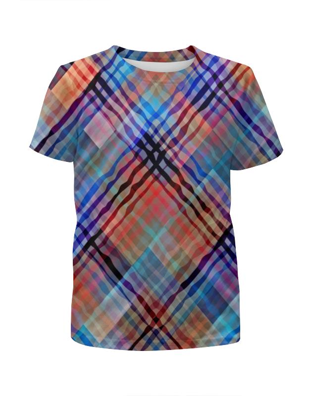 Футболка с полной запечаткой для девочек Printio Цветные волны футболка с полной запечаткой для девочек printio пртигр arsb