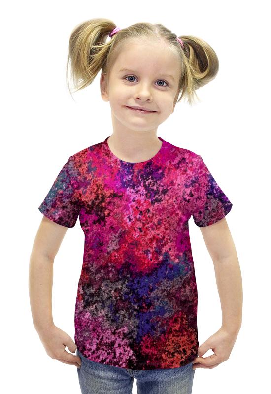 Футболка с полной запечаткой для девочек Printio Брызги футболка с полной запечаткой для девочек printio пртигр arsb