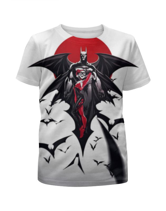 Футболка с полной запечаткой для девочек Printio Бэтмен и харли квинн футболка с полной запечаткой для девочек printio бэтмен batman