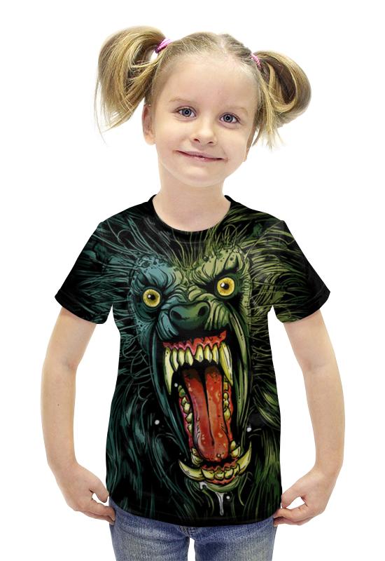 Футболка с полной запечаткой для девочек Printio Оборотень/werewolf футболка с полной запечаткой для девочек printio пртигр arsb