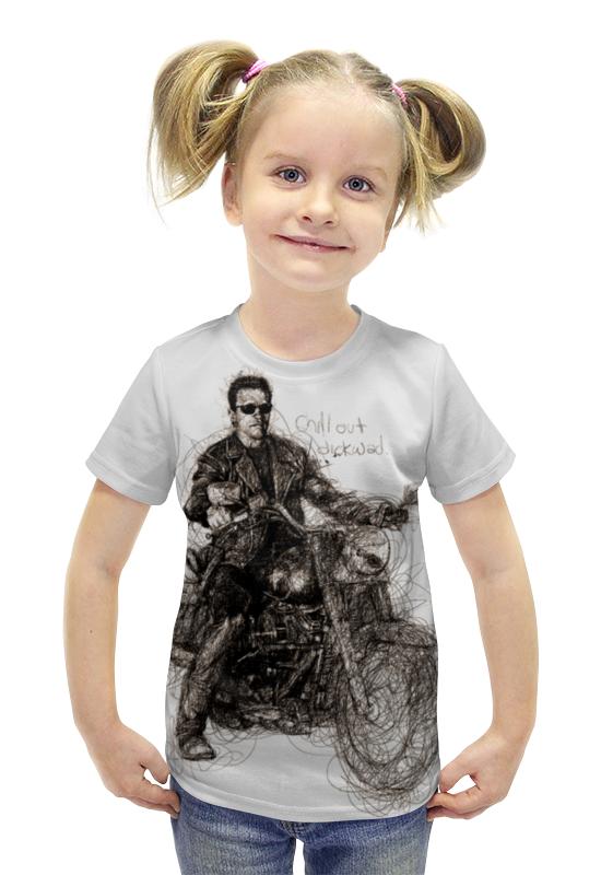 Футболка с полной запечаткой для девочек Printio Terminator футболка с полной запечаткой для девочек printio пртигр arsb