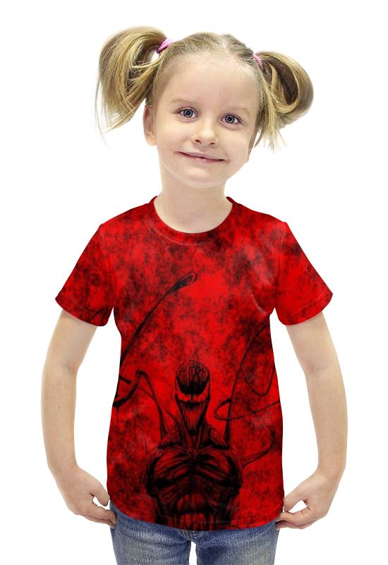 Футболка с полной запечаткой для девочек Printio Carnage футболка с полной запечаткой для девочек printio spawn