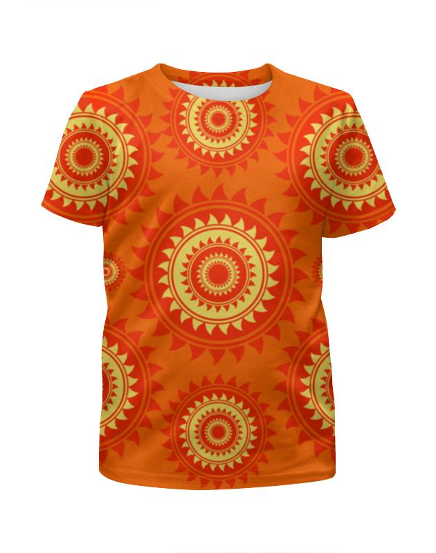 Футболка с полной запечаткой для девочек Printio Солнце футболка с полной запечаткой для девочек printio абстрактное красное геометрическое солнце