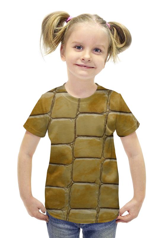 Футболка с полной запечаткой для девочек Printio Кожа футболка с полной запечаткой для девочек printio пртигр arsb