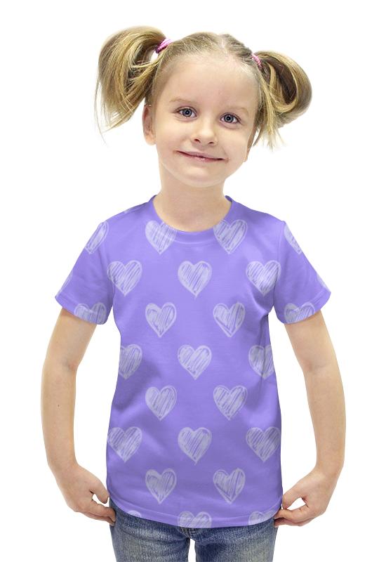 Футболка с полной запечаткой для девочек Printio Сердце футболка с полной запечаткой для девочек printio пртигр arsb