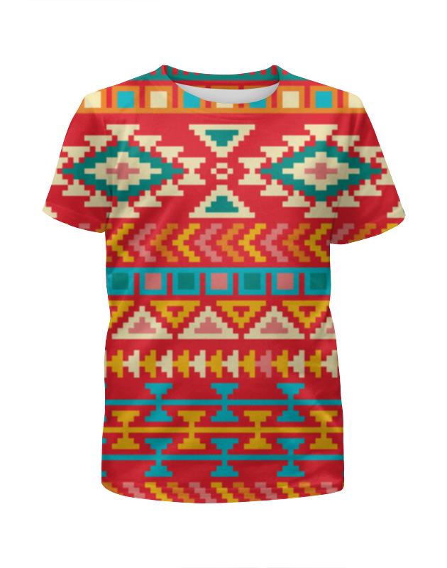 Футболка с полной запечаткой для девочек Printio Этнический узор футболка с полной запечаткой для девочек printio spawn