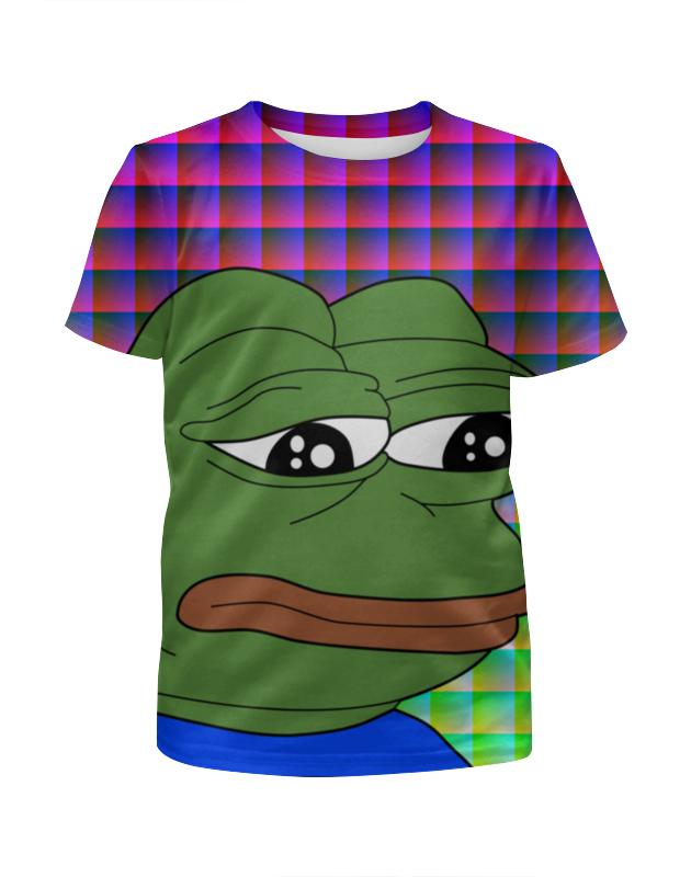Футболка с полной запечаткой для девочек Printio Sad frog футболка с полной запечаткой для девочек printio попугаи