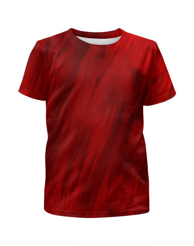 Футболка с полной запечаткой для девочек Printio Красные краски футболка с полной запечаткой для девочек printio пртигр arsb