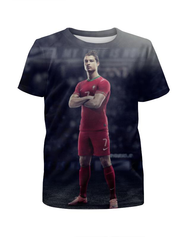 все цены на Футболка с полной запечаткой для девочек Printio Ronaldo онлайн