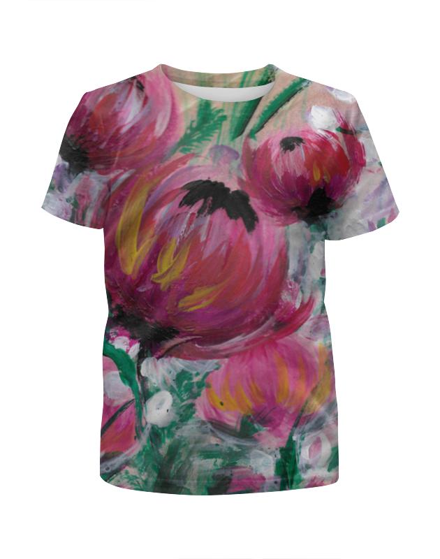Футболка с полной запечаткой для девочек Printio Полевые цветы футболка с полной запечаткой для девочек printio цветы полевые