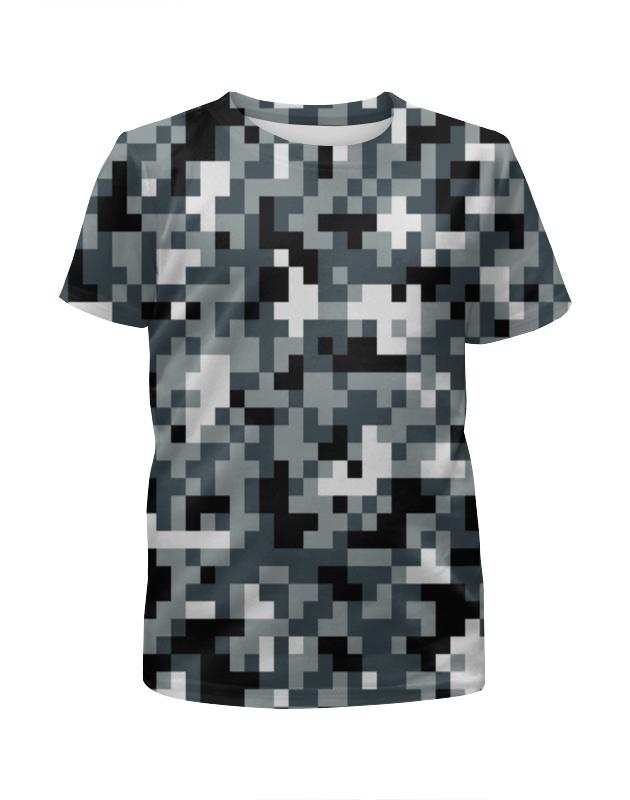 Футболка с полной запечаткой для девочек Printio Pixel gray