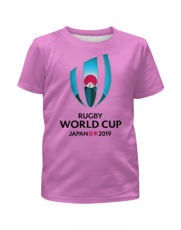 Футболка с полной запечаткой для девочек Printio Кубок мира по регби в японии чемпионат мира по регби 2019 африка 1 победитель утешительного турнира