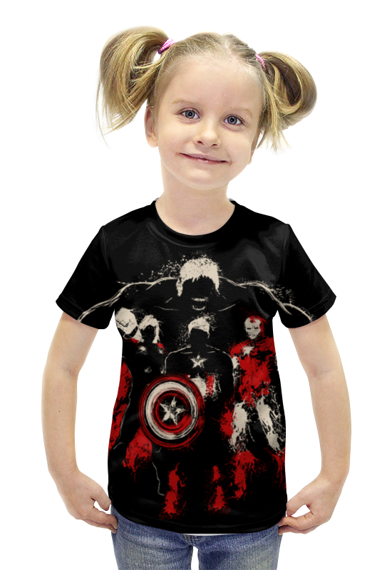 Футболка с полной запечаткой для девочек Printio Супергерои футболка с полной запечаткой для девочек printio пртигр arsb