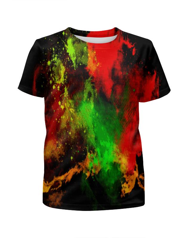 Футболка с полной запечаткой для девочек Printio Брызги красок футболка с полной запечаткой мужская printio буря красок