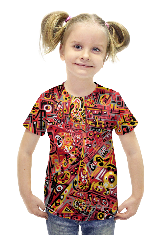 Футболка с полной запечаткой для девочек Printio Zdermm431 футболка с полной запечаткой для девочек printio пртигр arsb