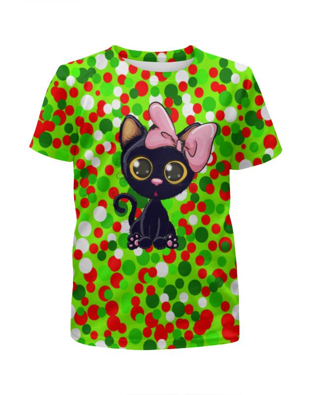 Футболка с полной запечаткой для девочек Printio Кошечка футболка с полной запечаткой для мальчиков printio кошечка