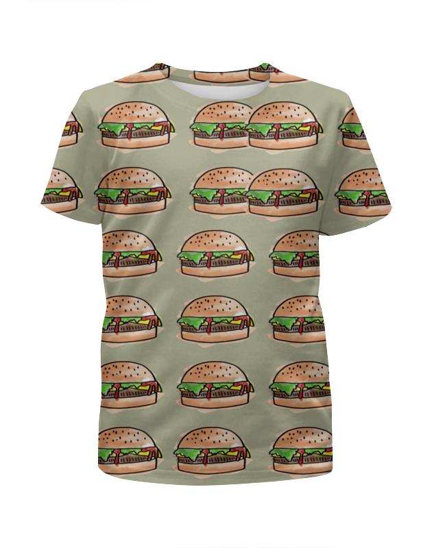 Футболка с полной запечаткой для девочек Printio I love burgers! футболка с полной запечаткой для девочек printio i want you for nova corps