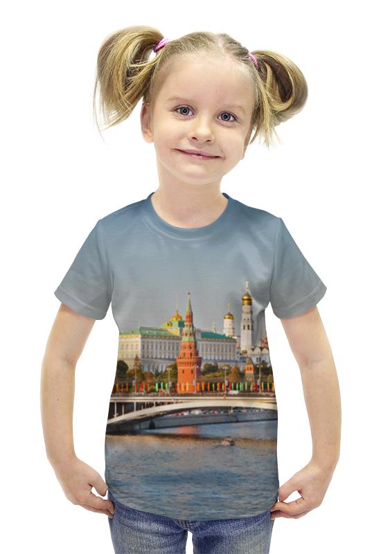 Футболка с полной запечаткой для девочек Printio Moscow футболка с полной запечаткой для девочек printio spawn