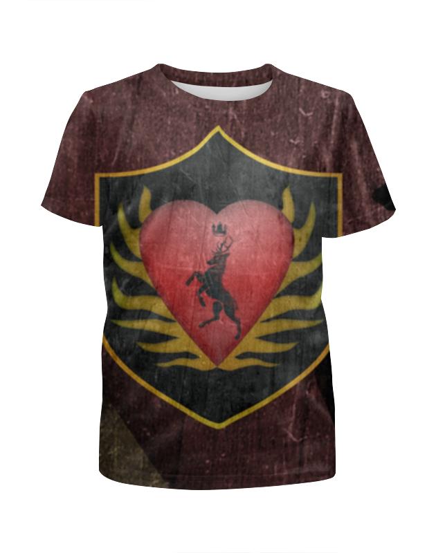 Футболка с полной запечаткой для девочек Printio game of thrones, stannis baratheon, футболка для беременных printio game of thrones
