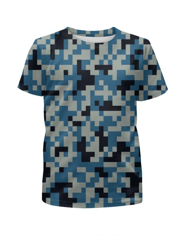 Футболка с полной запечаткой для девочек Printio Голубой камуфляж футболка с полной запечаткой для девочек printio пртигр arsb