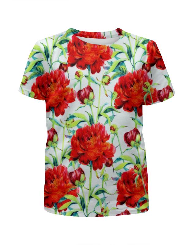 Футболка с полной запечаткой для девочек Printio Пионы футболка с полной запечаткой для девочек printio пионы