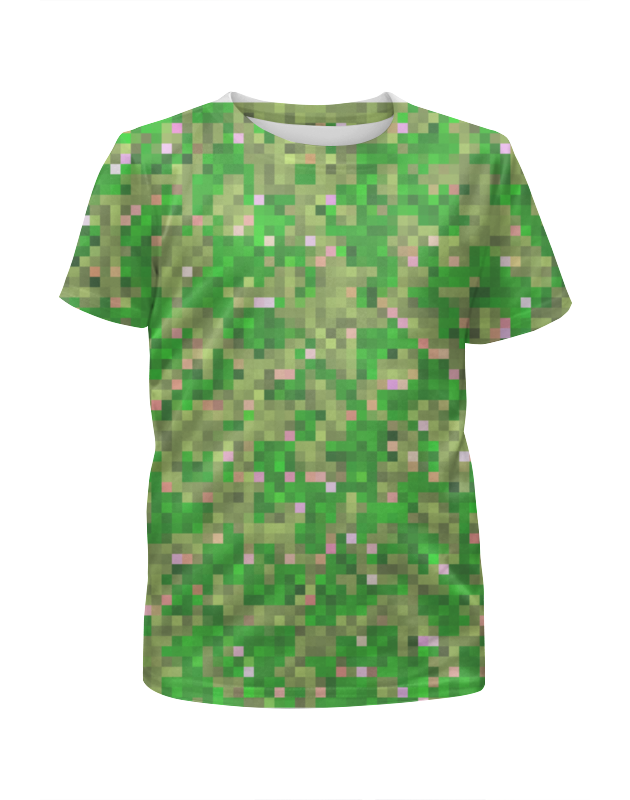 Футболка с полной запечаткой для девочек Printio Мультицвет пиксельный камуфляж футболка с полной запечаткой для девочек printio камуфляж