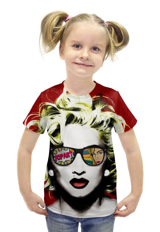 Футболка с полной запечаткой для девочек Printio Мадонна футболка с полной запечаткой для девочек printio пртигр arsb
