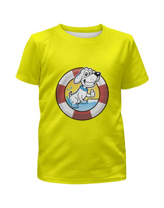 Футболка с полной запечаткой для девочек Printio Пёс-спасатель футболка с полной запечаткой для девочек printio пёс бродяга