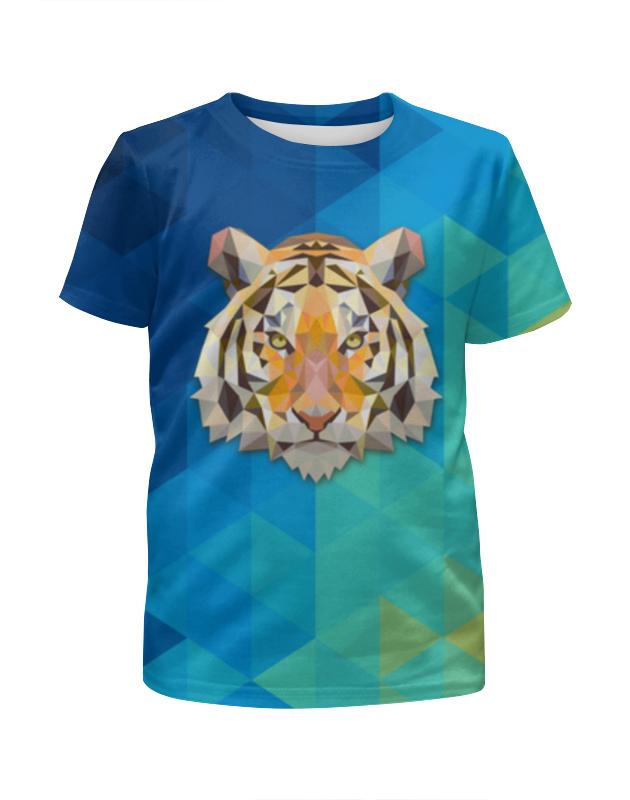 Футболка с полной запечаткой для девочек Printio Полигональный тигр футболка с полной запечаткой мужская printio полигональный тигр