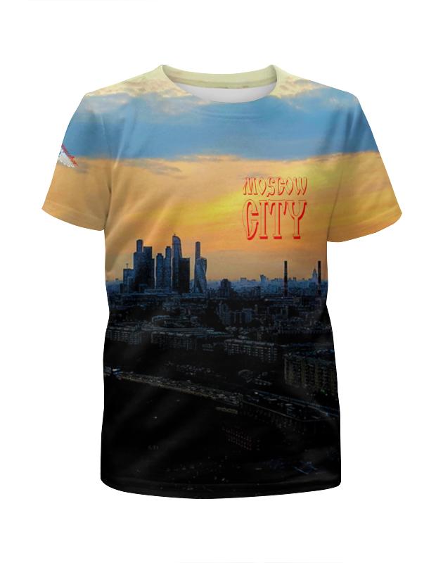 Футболка с полной запечаткой для девочек Printio Moscow city футболка с полной запечаткой printio москва россия