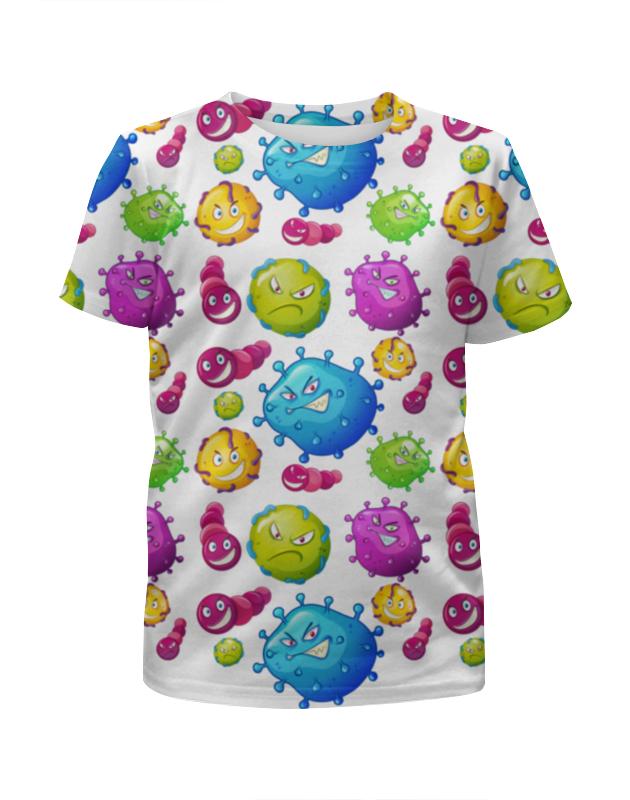 Футболка с полной запечаткой для девочек Printio Вирус футболка с полной запечаткой для девочек printio joker