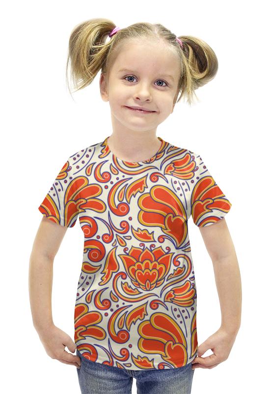 Футболка с полной запечаткой для девочек Printio Узорная футболка с полной запечаткой для девочек printio spawn