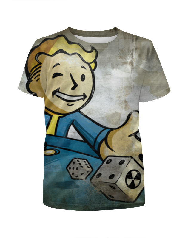 Футболка с полной запечаткой для девочек Printio Vaultboy fallout футболка классическая printio fallout фэллаут