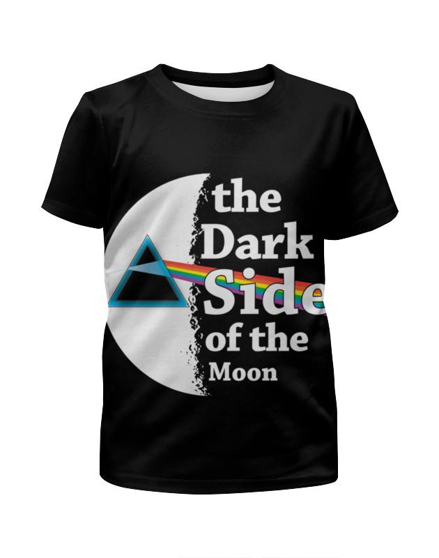 цена Футболка с полной запечаткой для девочек Printio Темная сторона луны