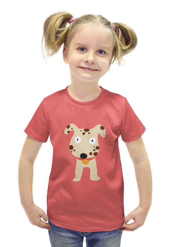 Футболка с полной запечаткой для девочек Printio Далматинец футболка с полной запечаткой для девочек printio пртигр arsb