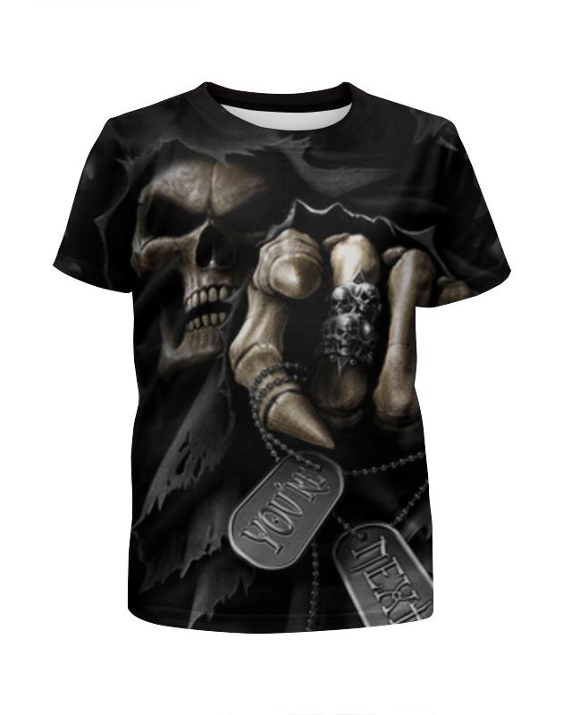 Printio Death metal (смерть) футболка с полной запечаткой для девочек printio death trooper