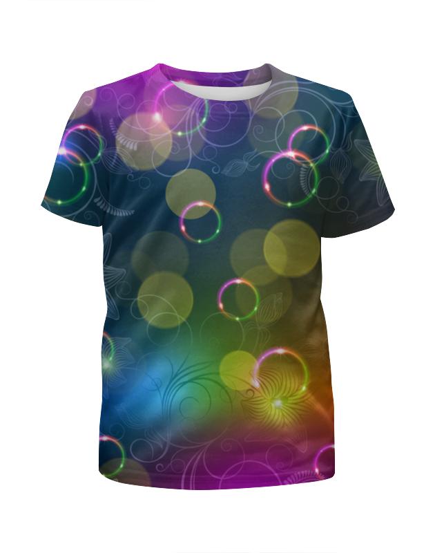 Футболка с полной запечаткой для девочек Printio Калейдоскоп футболка классическая printio муравьед с цветами