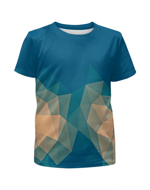 Футболка с полной запечаткой для девочек Printio Объемный синий футболка с полной запечаткой для девочек printio синий огонь