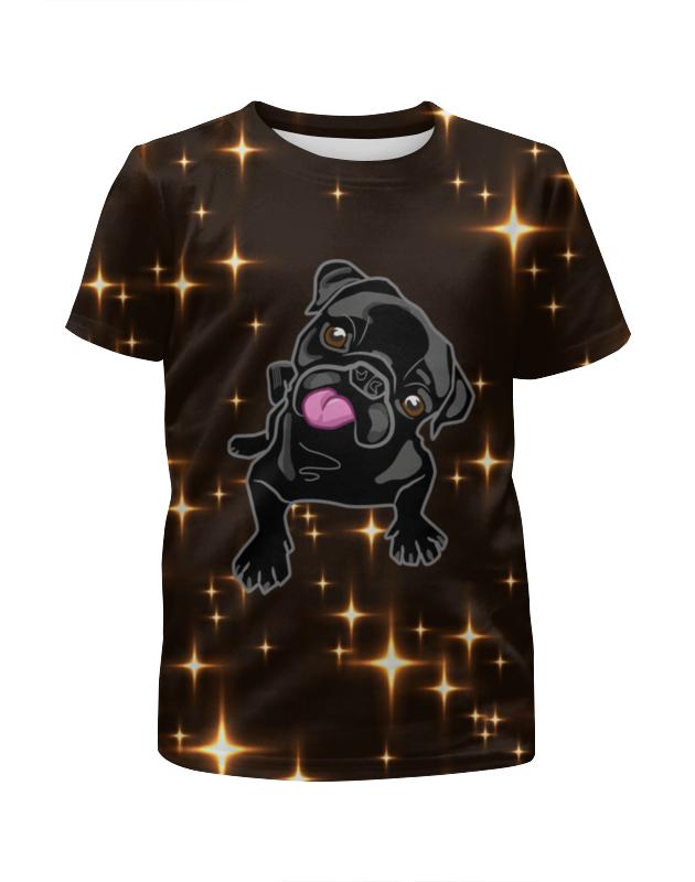 Футболка с полной запечаткой для девочек Printio Черный пес футболка с полной запечаткой для девочек printio пес и кот