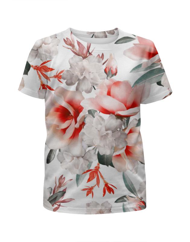 Футболка с полной запечаткой для девочек Printio Цветы футболка с полной запечаткой printio цветы любви