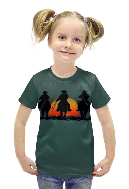 Футболка с полной запечаткой для девочек Printio Ковбои футболка с полной запечаткой для девочек printio spawn