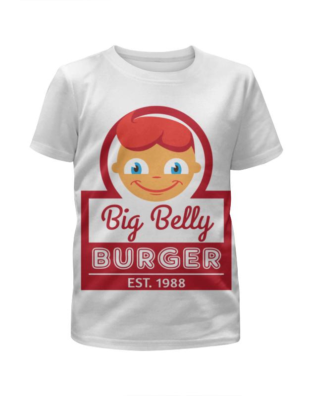 Футболка с полной запечаткой для девочек Printio Big belly burger хочу автомат для продажи фаст фуда