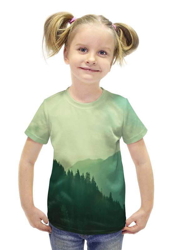 Футболка с полной запечаткой для девочек Printio Пейзаж футболка с полной запечаткой для девочек printio пртигр arsb