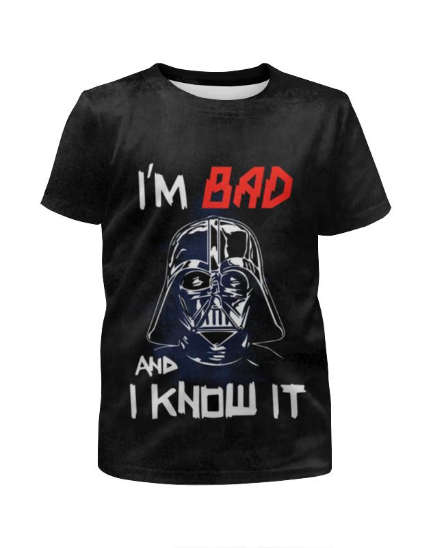 Футболка с полной запечаткой для девочек Printio I'm bad and i know it (starwars) футболка с полной запечаткой женская printio i m bad and i know it starwars