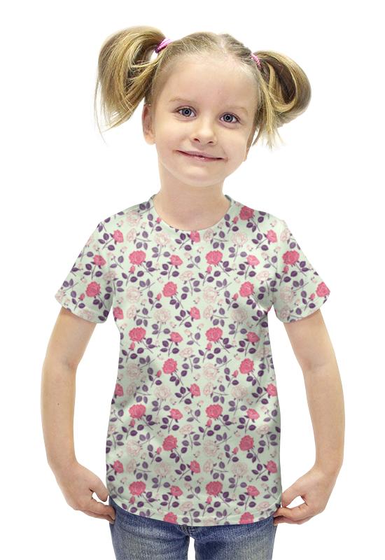 Футболка с полной запечаткой для девочек Printio Розочки футболка с полной запечаткой для девочек printio пртигр arsb