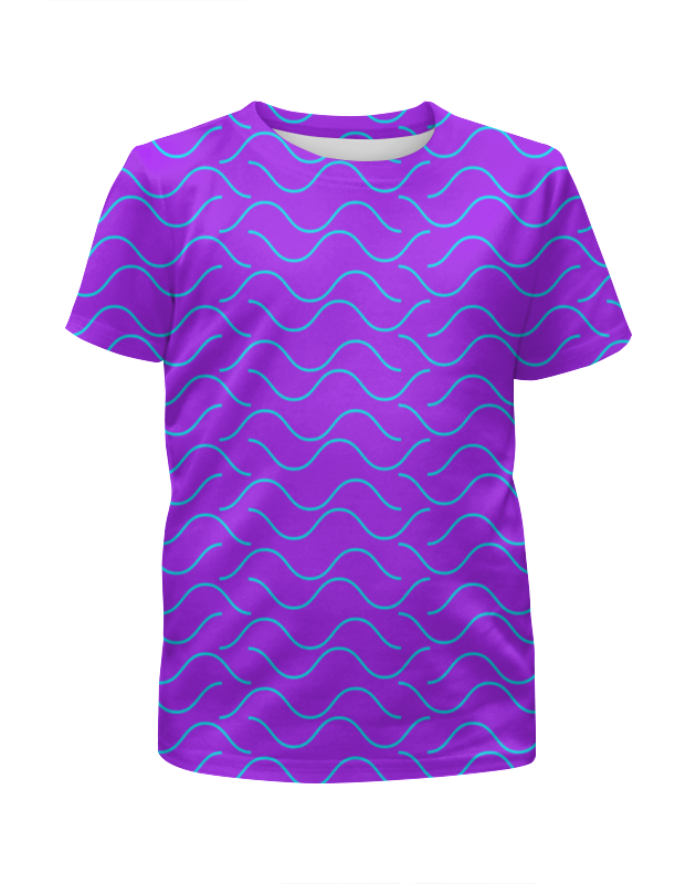 Футболка с полной запечаткой для девочек Printio Морская волна футболка с полной запечаткой для девочек printio пртигр arsb