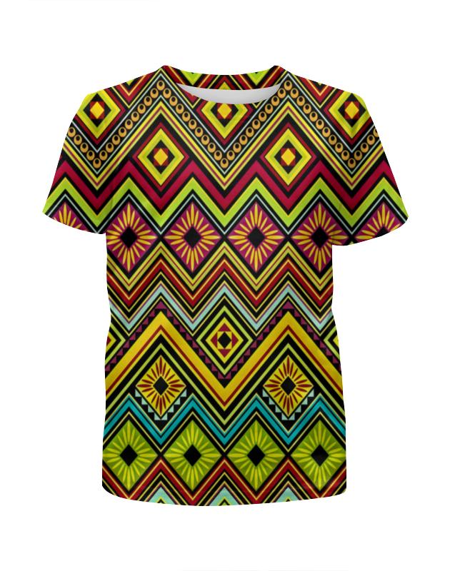 Футболка с полной запечаткой для девочек Printio Узор многоцветный футболка с полной запечаткой для девочек printio spawn